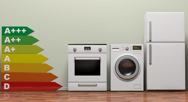 Haushaltsgeräte mit symbolischer Energieeffizienztabelle A+++ bis D