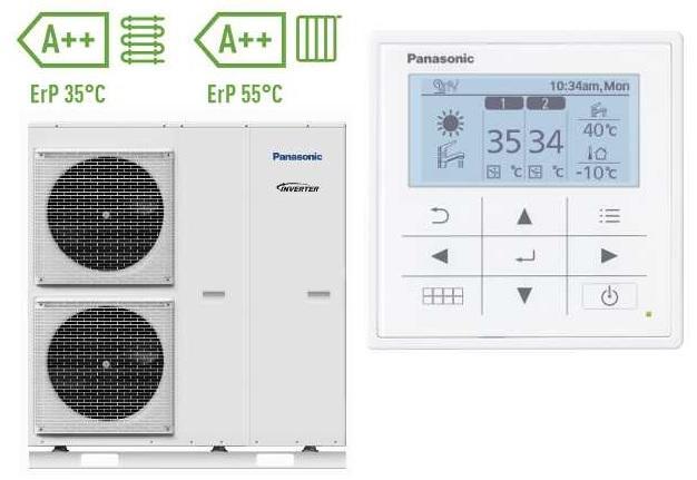 Panasonic Aquarea Luftwärmepumpe Monoblock Kompaktsysteme 400V 9 kW Inverter WH-MXC09H3E8