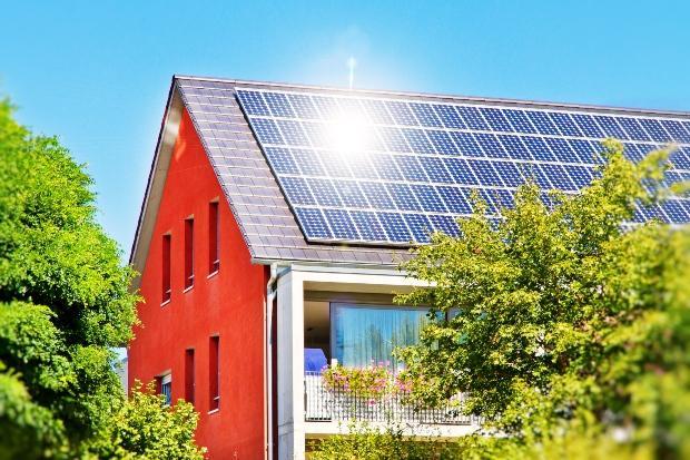 Photovoltaikanlage auf Häuserdach