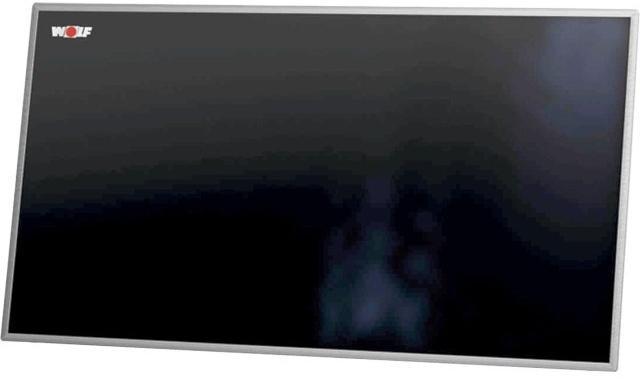 Wolf Hochleistungs-Sonnenkollektor F3-1Q TopSon, quer, Glasleiste schwarzgrau - für eine Solarthermieheizung