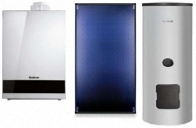 BUDERUS LOGASYS Systemlösung SL 120 mit GB192-15i, SL400 und 3x SKT1..0-s