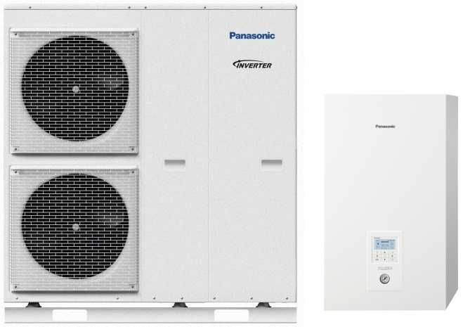 Panasonic Aquarea T-CAP Wärmepumpe Split SuperQuiet mit Hydromodul, 9,0kW, 400V, KIT-WQC09H3E8