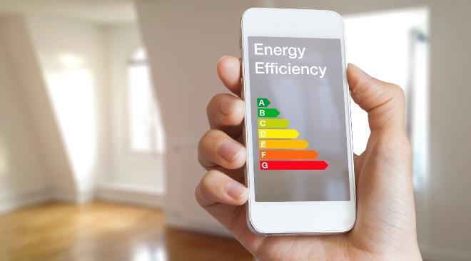 """Handy zeigt """"Energy Efficiency"""" an - Wärmeeffizienz steigern"""