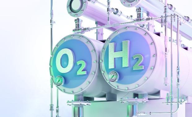 Wasserstoff- und Sauerstoff-Tank, Symbolbild
