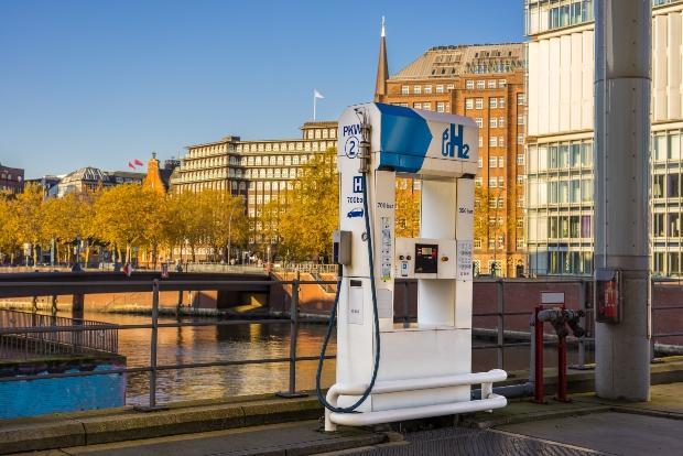 Wasserstoff Tanksäule in Hamburg