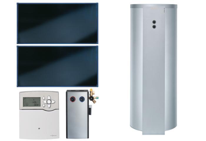 VIESSMANN SK05762 Paket Vitosol 200-FM SH2F 4,6m² TW SD1 Vitocell 100-U 300 l, C