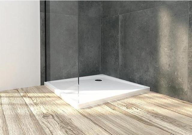 Duschwanne Ultra Flat Quadrat, BxHxT 800x47x800mm, Acryl, weiß