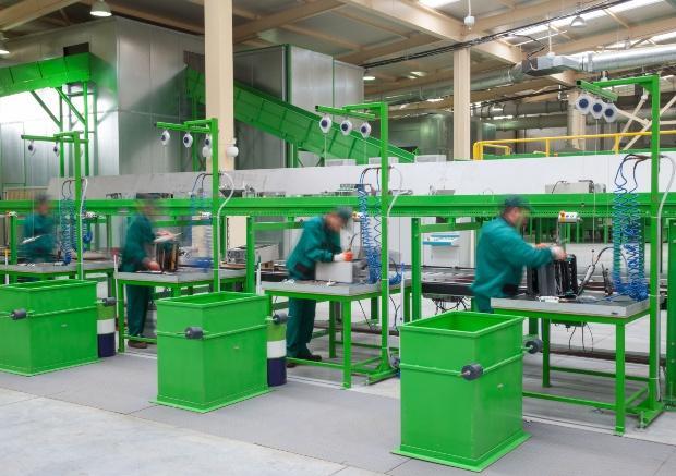 Elektro-Recycling-Betrieb