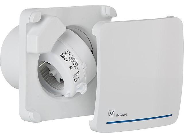 S&P Kleinraumventilator Ecoair LC DLC, Nachlauf, Bewegungsmelder, 3x1,5 mm²