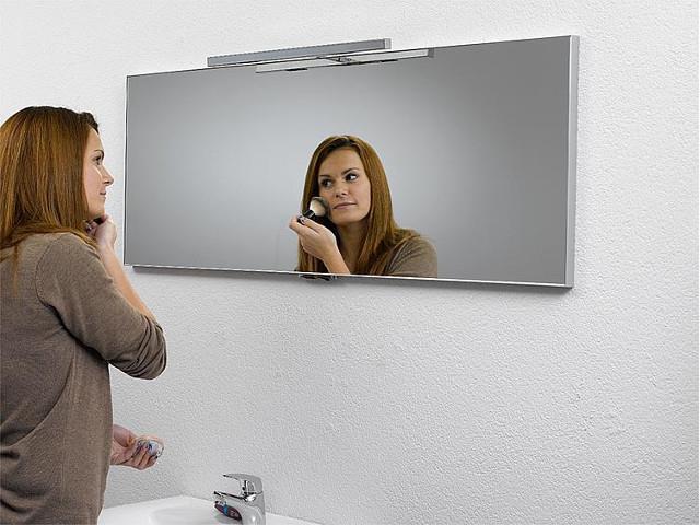 Spiegel mit Beleuchtung Halogen 2x25 Watt 1200x500mm