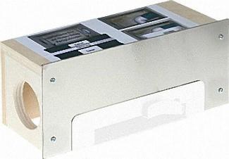 Einbaubox für Sockel-Einkehrdose Blende weiss beschichtet
