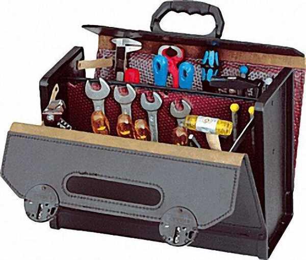 Werkzeugtasche 420x185x315mm schwarz 16,000-571