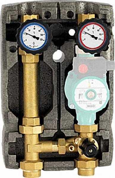 Heizkreisset Easyflow DN25 R1'' mit Isolierung 3-Wege- Mischer