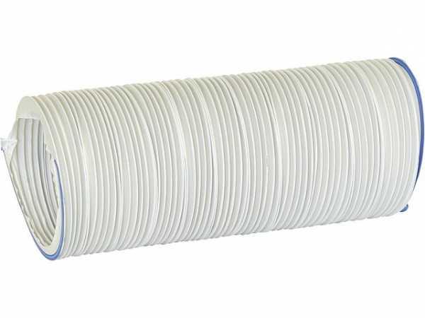 Helios 60501 Lüftungsschlauch, Kunststoff weiß KLS 100/1000, 1 m