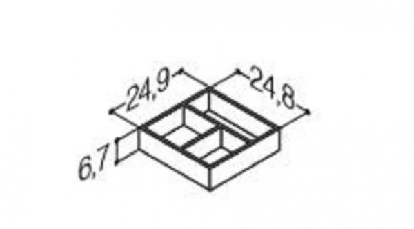 DANSANI 305221016 Kassette, 25 cm, Tiefe 24,8 cm