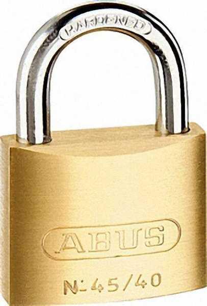 ABUS Messing-Zylinderschloss 45/40 Triples SB, Größe 40mm = 3 Stück gleichschließend
