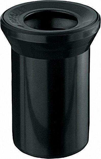 WC-Anschlussstutzen schwarz, mit Dichtung d = 110/110mm, gerade
