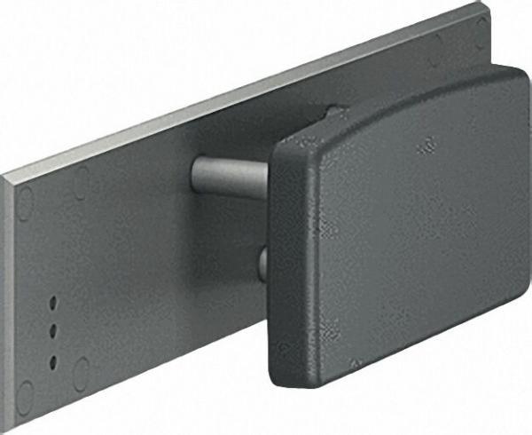 Rückenlehne Serie Cavere mit Montageplatte aus Alu., Anthrazit-Metallic 95, ohne Montageset