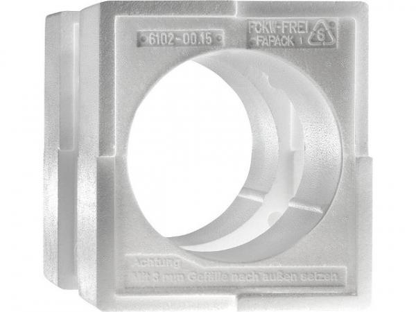 Lunos 041139 Wandeinbaugehäuse aus EPS Styropor für Rundkanäle Drm: 160mm