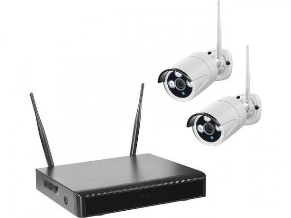 funk video berwachung mit smartrecorder inkl 2 kameras. Black Bedroom Furniture Sets. Home Design Ideas