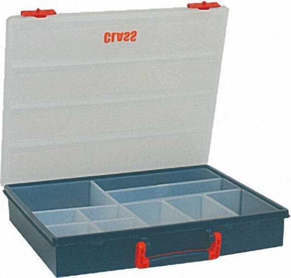 Kleinteilebox schwarz mit 10 Fächern l=400mm, 340mm, h=70mm