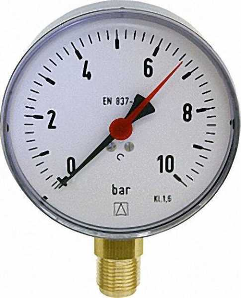 Manometer 0-2,5 bar 100mm für G1/2