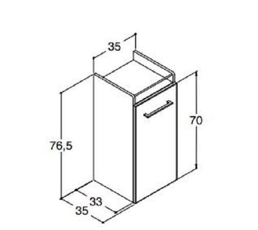 DANSANI P00111 hoher Unterschrank Weiß matt