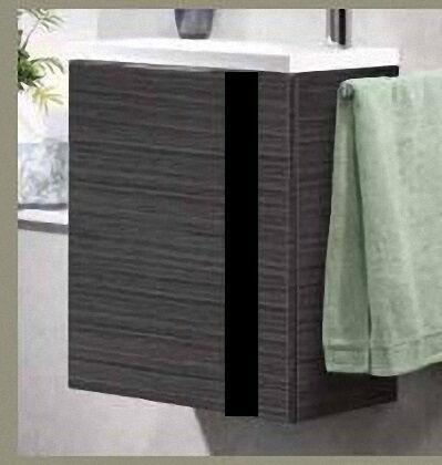 LANZET 7270212 VEDRO 12 Waschtischunterschrank+WT 49x60x32, links, Dark Oak/schwarz,1 Tür