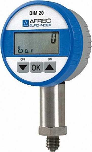 Universelles Digitalmanometer 75mm Durchmesser 0 - 10 bar, Anschluss 1/4''