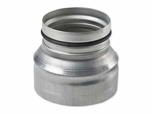 tecalor Reduzierstück DN 160/125, Stahlblech verzinkt, LWF RS 160-125