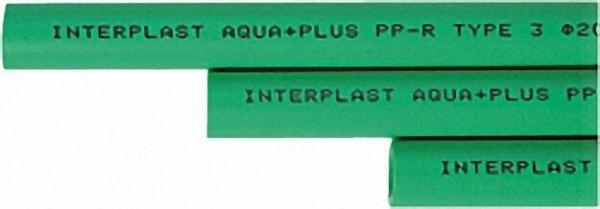 PPR Rohr Aqua-Plus d = 20 x 3,4mm 25 Stangen x 4m