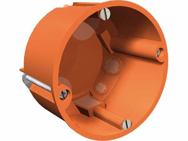 Hohlwand-Gerätedose Höhe 47mm, D=68mm Typ HG 60 MW, orange / 1 Stück