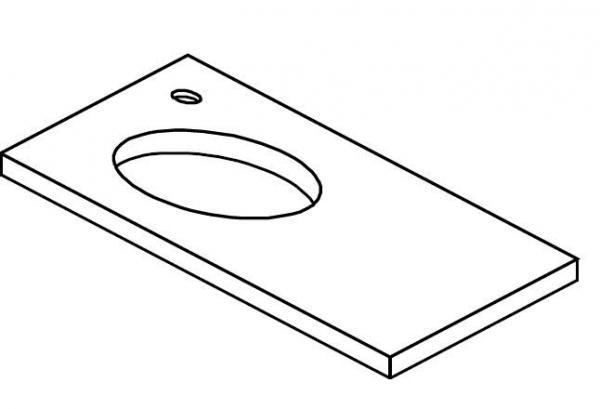 LANZET 7240012 Q4 Ausschnitt für Aufsatzbecken