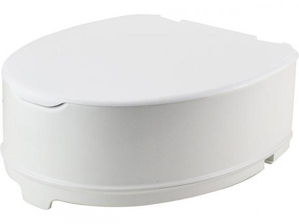 WC-Aufsatz Elga mit Deckel, aus PP, weiß Höhe 140mm