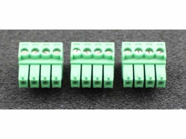 WOLF 2744822 Stecker Phönix grün klein 4-polig(3 Stück)