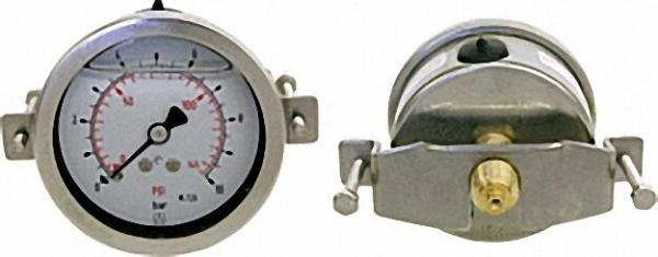Rohrfeder-Glyzerinmanomenter, 0-16 bar, 63 mm für G1/4