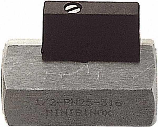 Mini-Kugelhahn, edelstahl AISI 316, IG x IG 3/8'' mit Nylonhebel