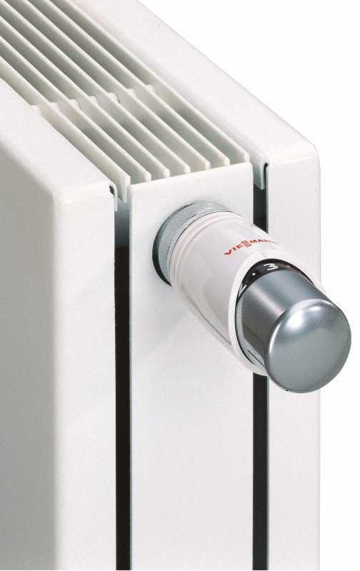 9573913 Thermostatkopf TRV 4, Farbe: Kopf chrom, Sockel weiß