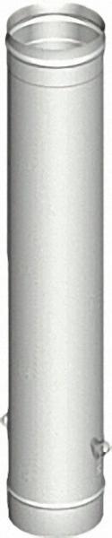 EVENES Einwandiges Abgassystem Rohr-Element DN 113 x 1000 x 0, 6 mit Ablaßösen