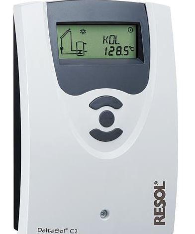 RESOL Differenztemperaturregler Delta Sol CS/2 mit 2 Fühler und PWM-Signal