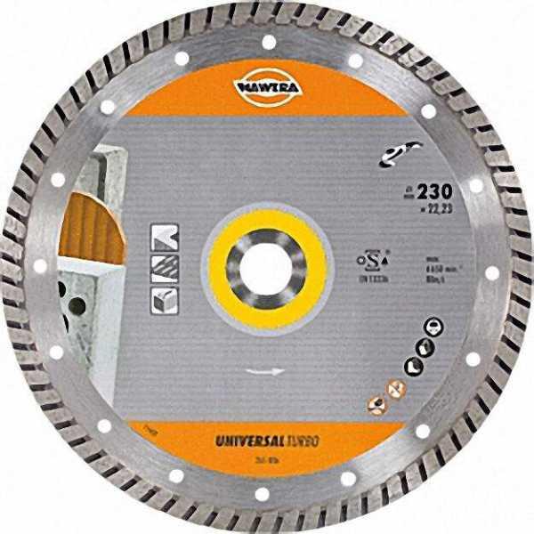 Diamant-Trennscheibe D=115mm Bohrung=22, 2mm Universal Turbo