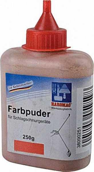 Farbpuder rot 250Gr.: Flasche für Schlagschnurgeräte