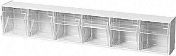 Sichtlagerkasten transparent 6 - fach