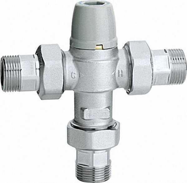 CALEFFI Thermomischer 5213 einstellbar, verchromt, 3/4'' Einstellbereich: 30°C bis 50°C