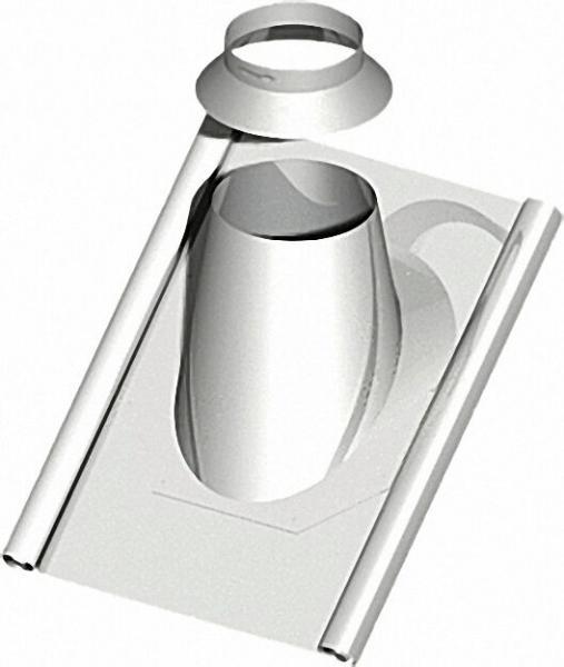 Kunststoff-Abgassystem Dachdurchfür mit Blei 15-30°, inklusive Regenkragen - DN 080/125