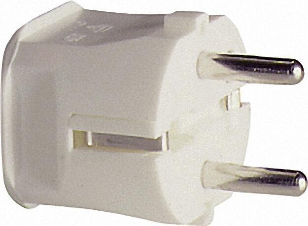 Schutzkontakt-stecker 2-polig - schwarz 16A - 250V