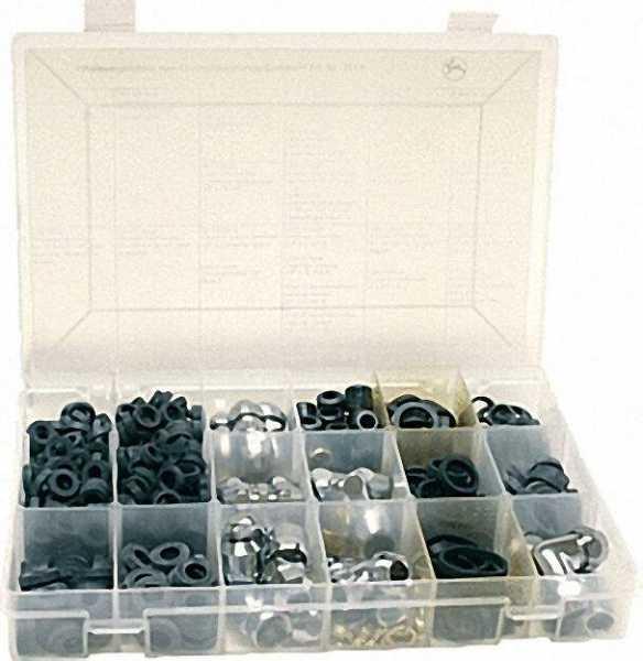 Quetschkupplungs-Sortiment Größe 270x180x42mm in PP-Box Gesamtinhalt 532 Stück