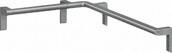 Duschhandlauf Serie Cavere aus Alu., Anthrazit-Metallic 95, rechts, 450x750mm, inklusive Befestigung