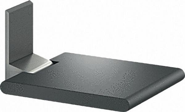 Klappsitz Serie Cavere aus Alu., Anthrazit-Metallic 95, 380x450mm, ohne Montageset