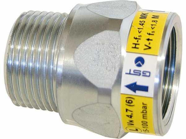 Gas-Strömungswächter DN 25 / 15-100 mbar / 6 m3/h